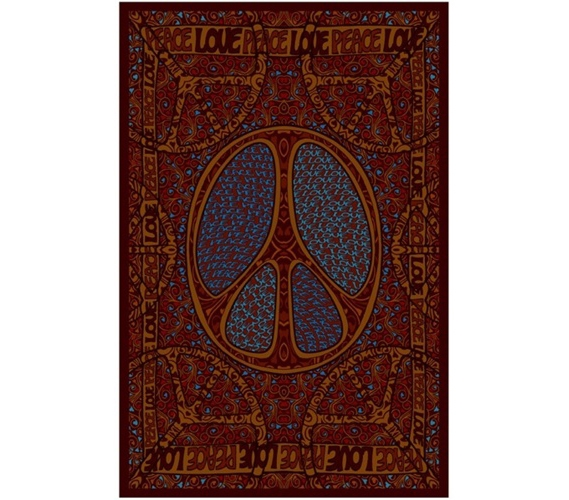 Peace Love Tapestry College Dorm Room Accessory Dorm