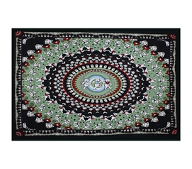 Enhance Bland Walls - Bear Tapestry Black Green - Make Dorm Room Cool