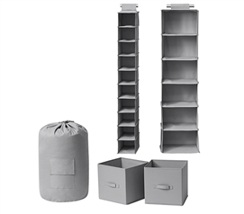 TUSK 5-Piece Room Organization Set - Alloy