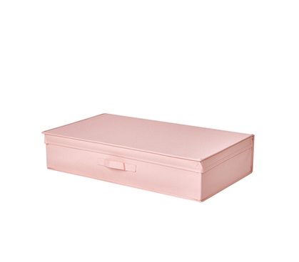 Underbed Folding Box - TUSK® College Storage - Rose Quartz