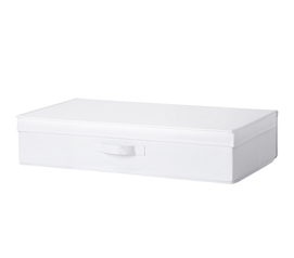 Underbed Folding Box - TUSK College Storage - White