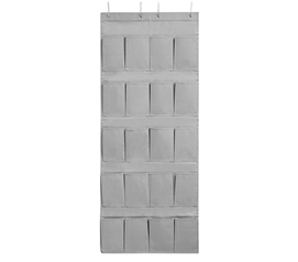 Durable College Shoe Organizer Alloy Gray Cheap TUSK® College Storage for Over Dorm Door