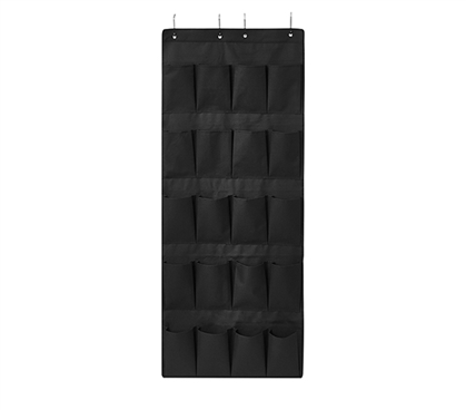 Durable College Shoe Organizer Black Cheap TUSK® College Storage for Over Dorm Door
