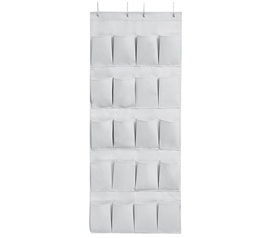 Easy to Match Glacier Gray Dorm Room Hanging Over-The-Door Shoe Pockets for College Door and Dorm Room Closet