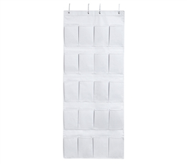 Hanging Over-The-Door Shoe Pockets - TUSK College Storage - White