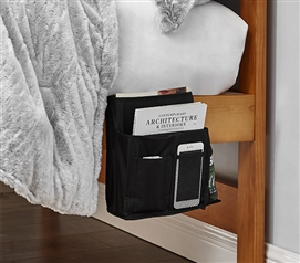 Bedside Caddy - TUSK® College Storage - Black