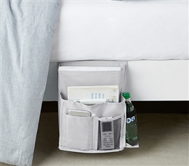 Durable Dorm Supplies Glacier Gray College Storage TUSK Bedside Caddy For College Dorm Room