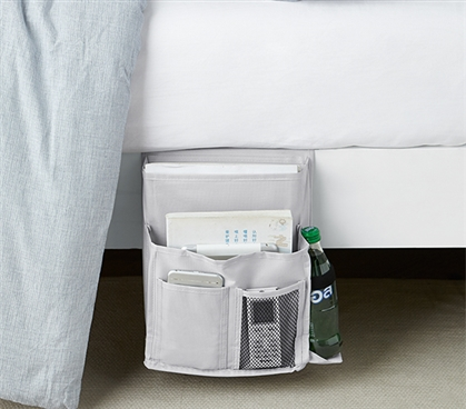 Bedside Caddy - TUSK College Storage - Glacier Gray