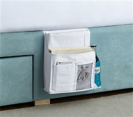 Bedside Caddy - TUSK College Storage - White