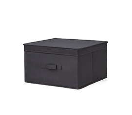 Durable Dorm Room Storage Box Black TUSK College Storage Item with Oversized Dimensions