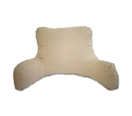 Perfect Atop Your Dorm Bed - Microfiber Soft Campus Bedrest - Almond - Add More Dorm Seating