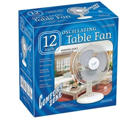 "College Students Love 12"" Oscillating Dorm Room Fan - Affordable College Dorm Room Products"