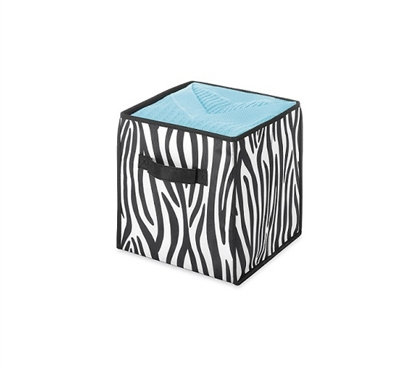 Zebra Storage Cube Fun Dorm Supplies College Items Dorm