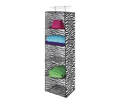 Cool Animal-Print Pattern - Zebra 5 Sweater Shelf Organizer - College Dorm Stuff Essential