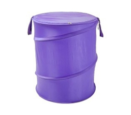Purple Bongo - Durable Dorm Laundry Hamper - Cool Color and College Necessity