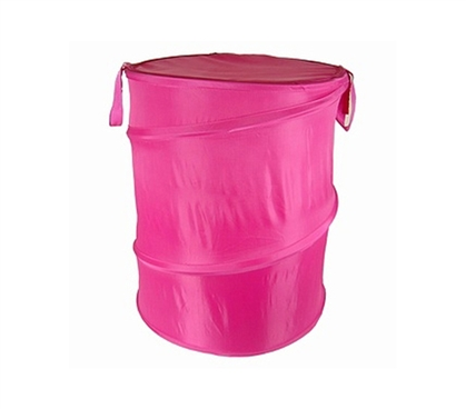 Hot Pink Bongo - Durable Dorm Laundry Hamper - Dorm Essential Supply For Laundry