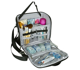 Must Have For Dorm Bathroom Supplies - College Cosmetic Dorm Case - Holds Everything!