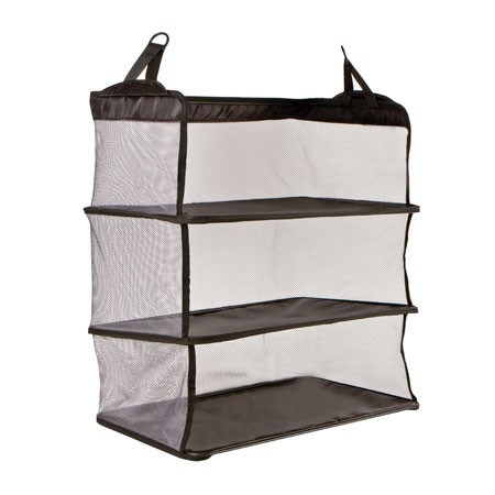 Portable dorm closet shelves 2 in 1 college product for Portable book shelves