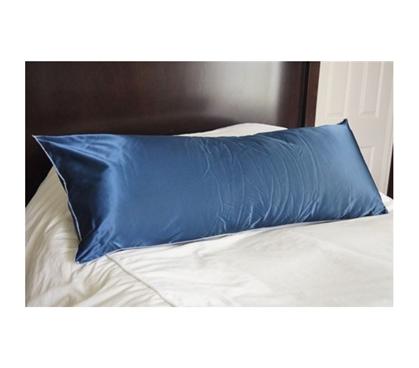 Elegant College Dorm Room Satin Style Body Pillow Navy