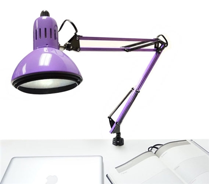 Adjusting College Clip Lamp - Purple College Supplies Dorm Essentials