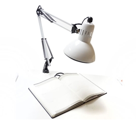 Adjusting College Clip Lamp - White College Supplies