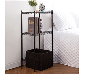 College Storage Table Shelf Supreme Dorm Organization Must Have Dorm Items