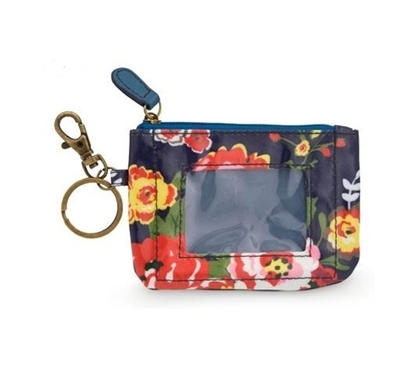 College Organizer - Cottage Rose Student ID Case - Dorm Room Accessory