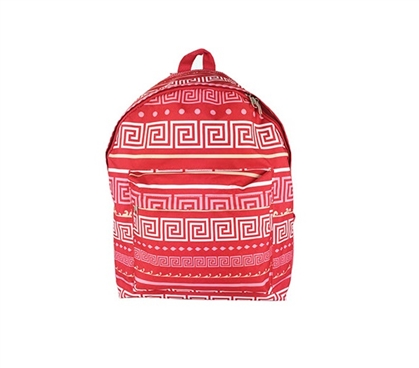 Greek Key Pink College Backpack Cheap Dorm Supplies Must Have Dorm Items