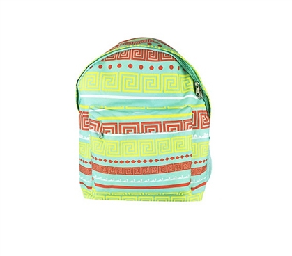 Greek Key Turquoise College Backpack Dorm Essentials Must Have Dorm Items