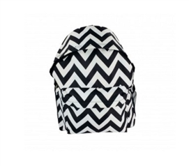 Chevron Black College Backpack Dorm Essentials Must Have Dorm Items