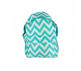 Chevron Turquoise College Backpack Cheap Dorm Supplies College Dorm Checklist