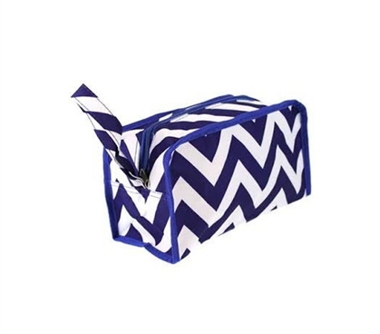 Shower Essential - Chevron Blue Travel Bag - Stylish Design