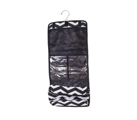 Black White Chevron - Cosmetic Bag - College Supplies - Dorm Room Accessories