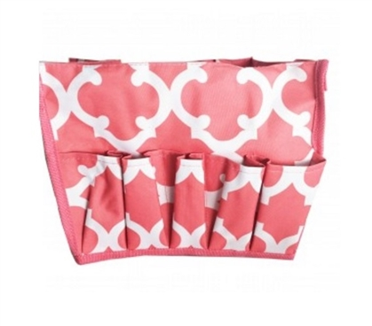 Must Have Dorm Items Dorm Storage Solutions Quatrefoil Peach Dorm Organizer
