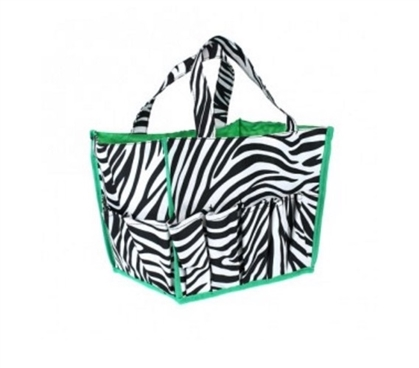 Zebra with Green Trim Dorm Organizer Dorm Essentials Must Have Dorm Items
