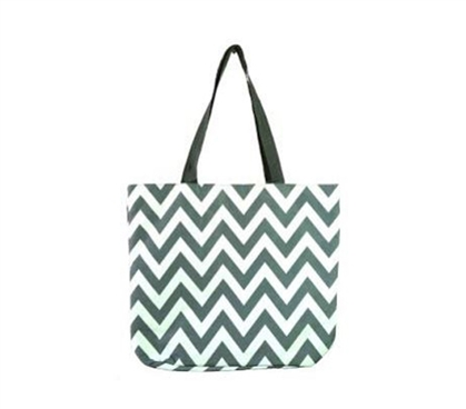 Chevron Gray College Girl Tote - Laptop Bag - College Supplies