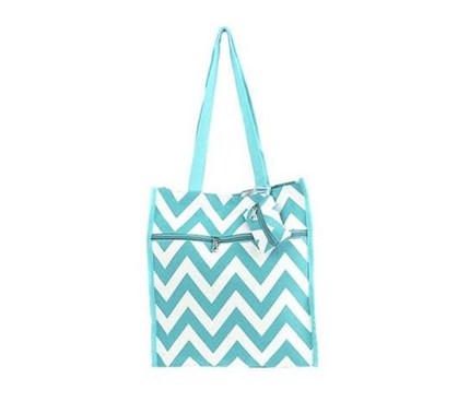 Chevron Tote Compact Carrier - Aqua - Laptop Bag - Backpack