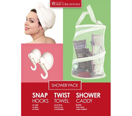 Dorm Essentials - Value Pack - Dorm Caddy / Twist Towel / Snap Hooks