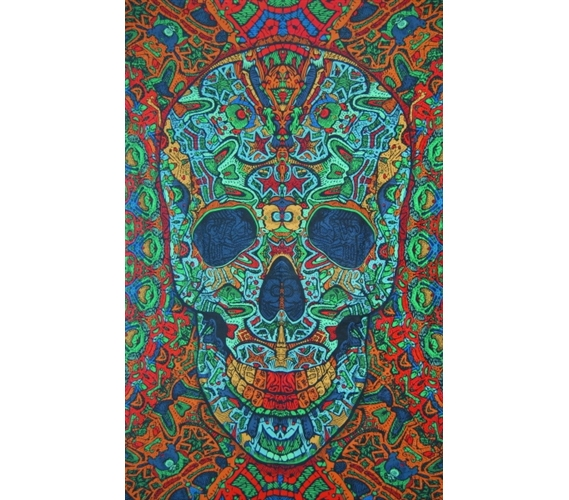 3d Skull Tapestry Dorm Decorating Designs Colorful Cheap