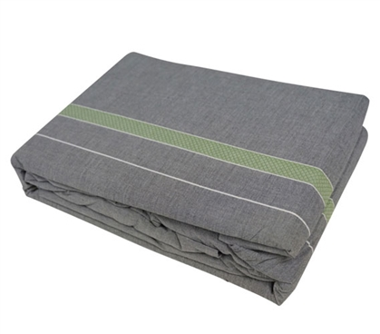 Gray and Green College Sheets Stylish Tungsten Lime Extra Long Twin Bedding