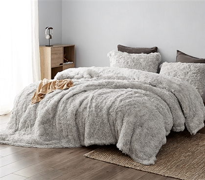 Socially Distant - Coma Inducer Twin XL Comforter - Cloud Gray