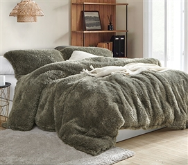 Laurel Oak Hairnado Twin Extra Long Comforter Set Coma Inducer Plush Dorm Bedding
