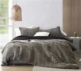 Taupe Twin Extra Long Bedding Ideas for Small Rooms Neutral Dorm Decor Softest College Comforter Set