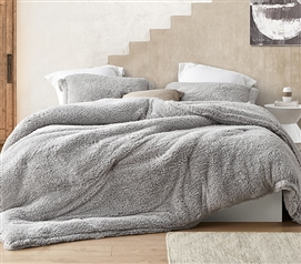 I Know You Know Ultra Cozy Twin Extra Long Bedding Set Soft Coma Inducer Quiet Gray College Comforter