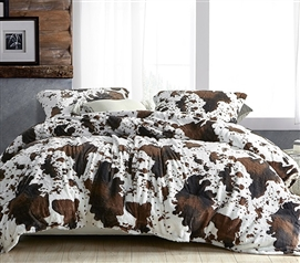 Coma Inducer Moo Cow Extra Long Twin Comforter Set Animal Print Pattern College Bedding Made with Super Soft Plush