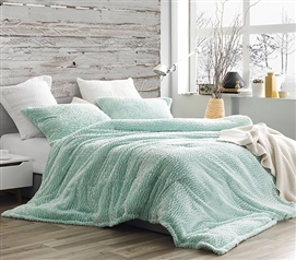 Yucca Green College Comforter Set Coma Inducer Phuket Winters Cozy Plush Twin Extra Long Bedding