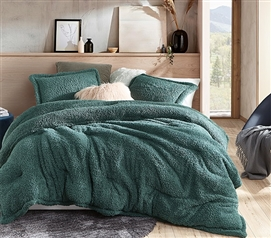 Silver Pine Green Twin Extra Long Comforter Unique Shankapotomus Coma Inducer Ultra Cozy College Bedding Essentials