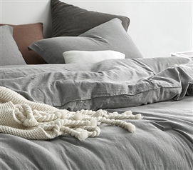Shaded Gray Twin XL Comforter - 100% Yarn Dyed Cotton