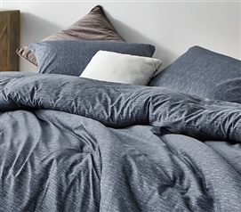 Interwoven Navy Twin XL Comforter - 100% Cotton