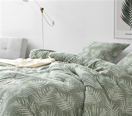 Parlor Palm Twin XL Comforter - 100% Yarn Dyed Cotton